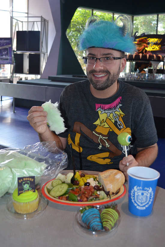 Disney Parks Blog Author Nate Rasmussen's Mike Wazowski-inspired Meal