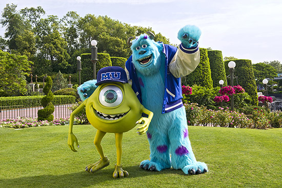 Mike and Sulley Join Magic Kingdom Street Party