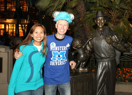 Disney Parks Blog Author Steven Miller and His Fiancee Jennifer at Disney California Adventure Park