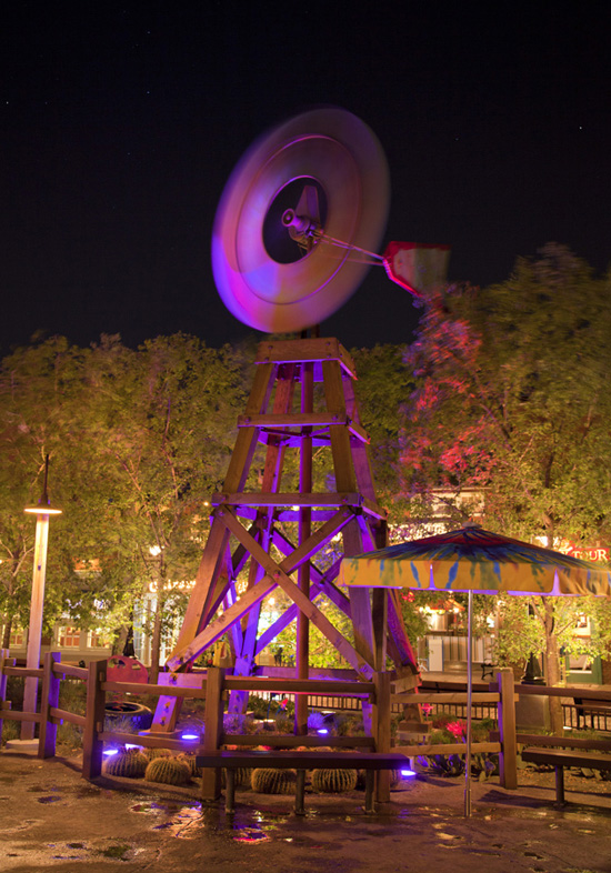 The Windmill at Fillmore's Taste-In at Cars Land in Disney California Adventure Park
