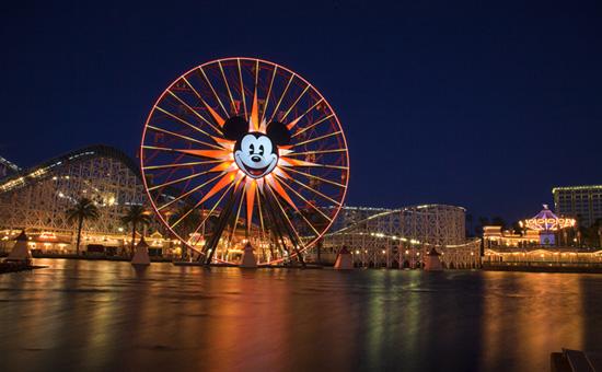 Paradise Bay and Mickey's Fun Wheel at Disney California Adventure Park