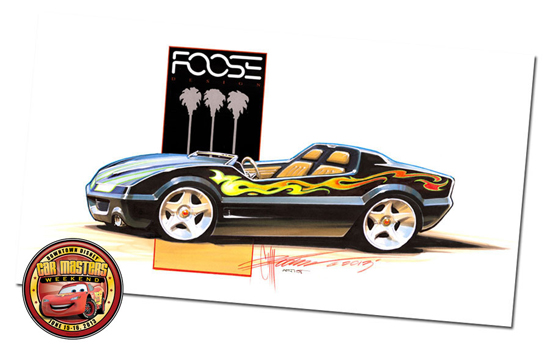 Chip Foose Returns to D-Street with New Artwork for Downtown Disney Car Masters Weekend on June 15-16, Including the Design of the Tomorrowland Speedway-Inspired Car