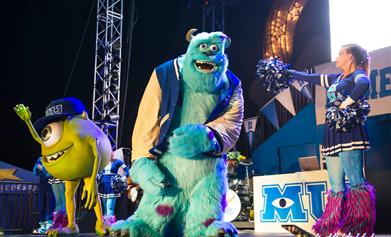 Mike Wazowski and James P. 'Sulley' Sullivan on Stage for the 'Monsters University' Homecoming During 'Limited Time Magic' at Disney's Hollywood Studios