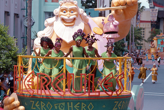 The Hercules - Zero to Hero Victory Parade at Disney's Hollywood Studios Back in 1997