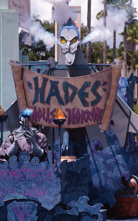 Hades at the Hercules - Zero to Hero Victory Parade at Disney's Hollywood Studios Back in 1997