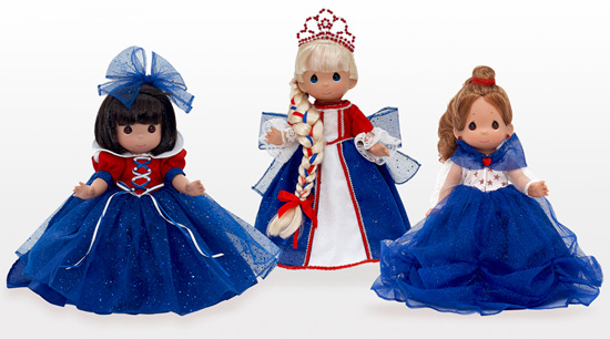 Patriotic Dolls from Linda Rick, Visiting Uptown Jewelers at Magic Kingdom Park in July