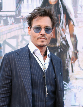 Johnny Depp at Disney California Adventure Park for World Premiere of Disney/Jerry Bruckheimer Films' 'The Lone Ranger'