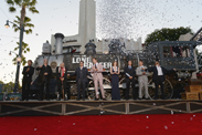 The Cast of Disney/Jerry Bruckheimer Films' 'The Lone Ranger' at Disney California Adventure Park for World Premiere