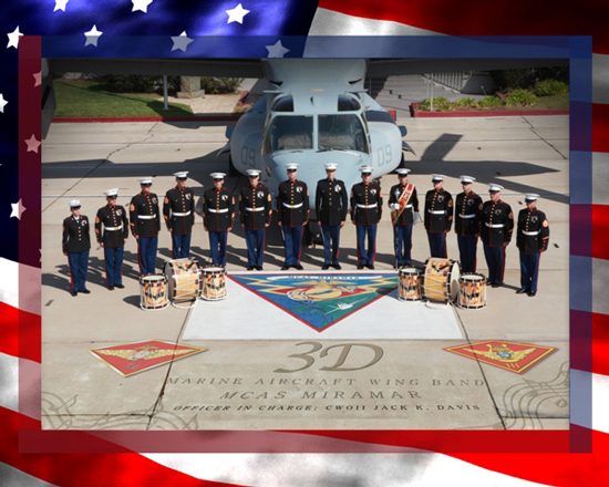 At Disneyland Park, the 3rd Marine Aircraft Wing Band will be Part of the Flag Retreat Ceremony in Town Square