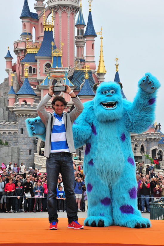 Nadal Celebrates Monstrous Summer in Monsters Style at Disneyland Paris