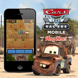 Experience Cars Land on the Go with Cars Land Racers Mobile Game