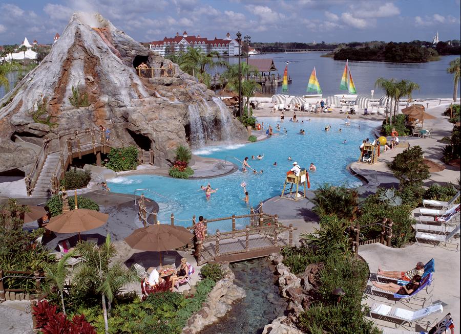 Nanea Volcano Pool Slide At Disney S Polynesian Resort
