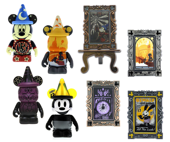 A Series of Vinylmation Figures and Limited Edition Pins Available Based on the 2013 Posters from Disney Design Group