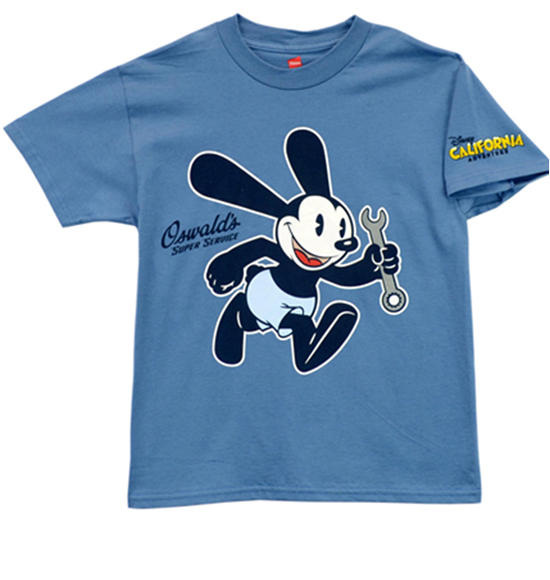 New Look for Buena Vista Street Merchandise at Disney California Adventure Park, Including this Oswald Youth Tee