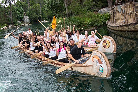 Cast Members, Imagineers, and Employees of The Walt Disney Company Celebrate the 50th Anniversary of the Disneyland Resort Canoe Races