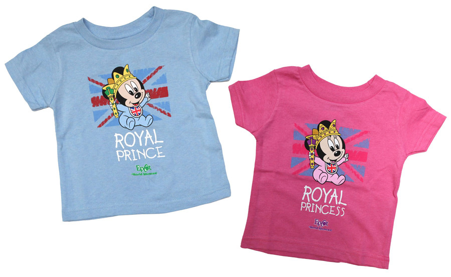 New Infant Apparel Items Featuring Baby Mickey and Minnie Mouse at Epcot Prince George of Cambridge