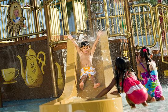 'Alice In Wonderland' Water Play Area at Disney's Grand Floridian Resort & Spa