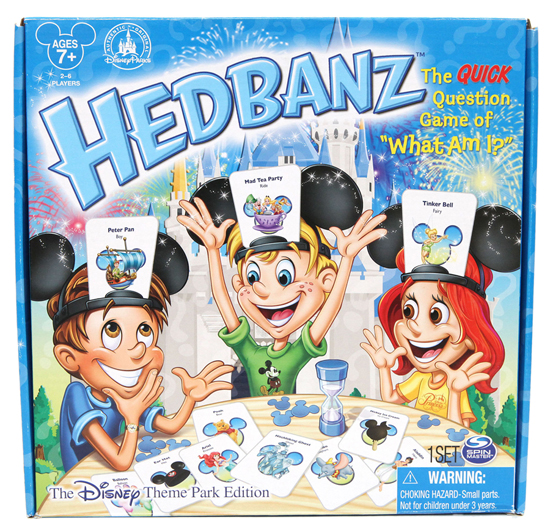 Fun in Four-Dimensions Coming to the D23 Expo Dream Store and Disney Parks in August 2013, Including a New Disney Theme Park Edition of Hedbanz