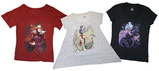 Villainous Tees and Pockets of Disney Character Coming to Disney Parks This Fall, Including Ursula, Cruella de Vil and the Wicked Queen from 'Snow White and the Seven Dwarfs'