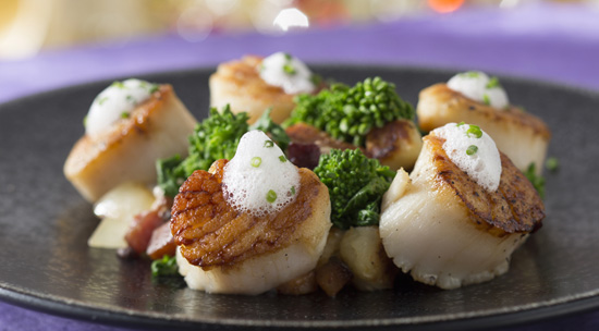 Seared Diver Scallops at California Grill at Disney's Contemporary Resort, Debuting September 9