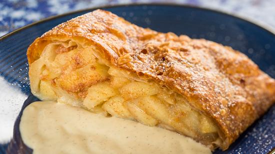 Bright New Tastes at Germany Pavilion Biergarten Restaurant, Sommerfest at Epcot, Including Apple Strudel
