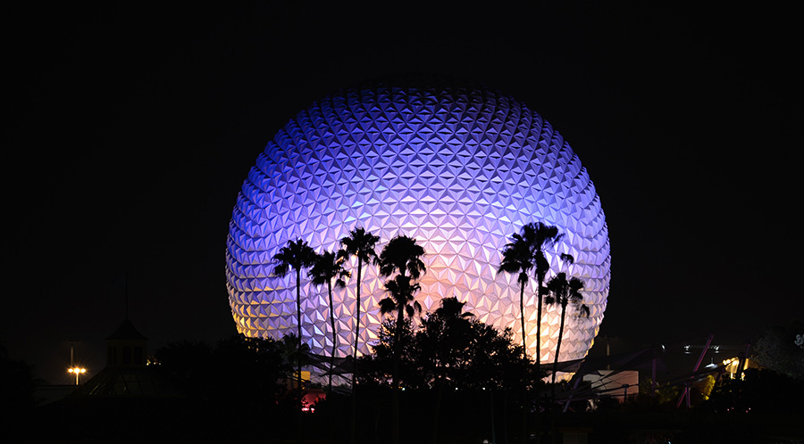 Spaceship Earth Brightens Epcot at Walt Disney World Resort
