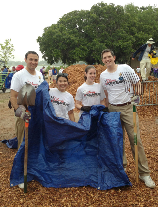 The Walt Disney World Ambassador Team Worked with KABOOM! to Build a Playground