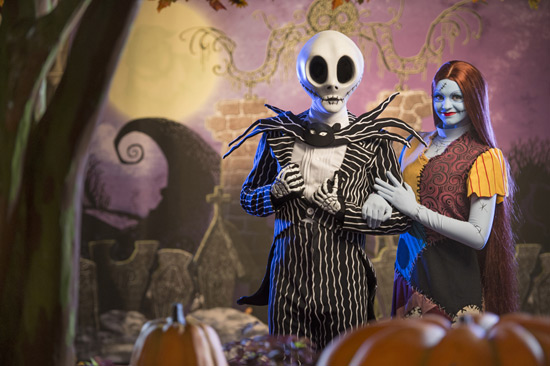 Jack Skellington & Sally Debut at Mickey's Not-So-Scary Halloween Party