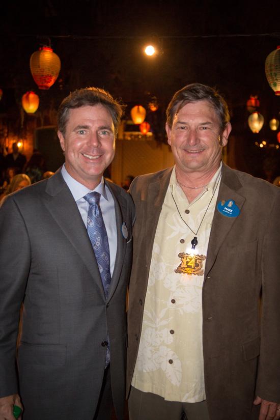 Disneyland Resort President Michael Colglazier and Cast Member Mark Taul at Celebration of Cast Member Milestone Service Anniversaries
