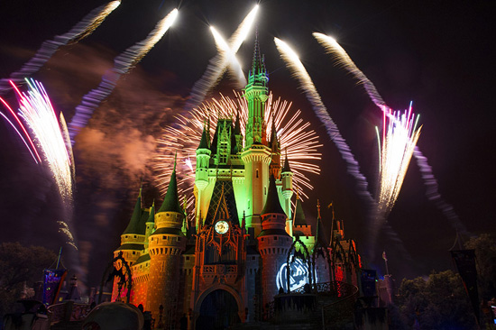 'Happy HalloWishes' Fireworks at Mickey's Not-So-Scary Halloween Party at Magic Kingdom Park