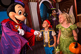 Mickey, Minnie and friends, aboard the Disney Dream for Halloween on the High Seas