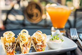 Duck Confit Tacos Available at The Hollywood Brown Derby
