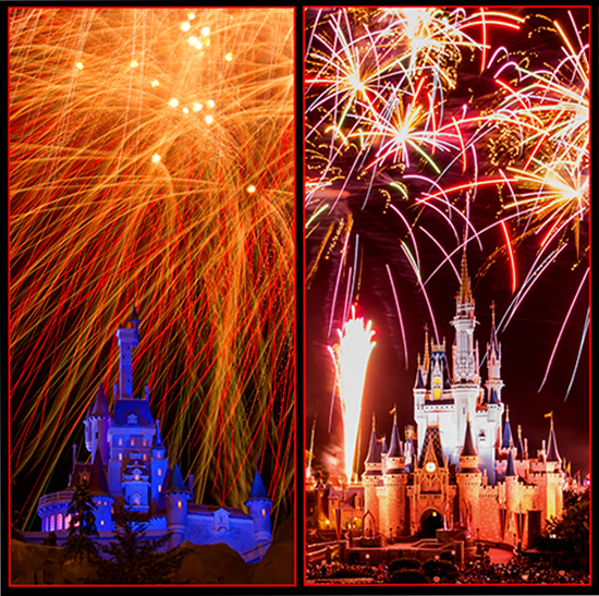 Fireworks Over the Castles of Magic Kingdom Park at Walt Disney World Resort