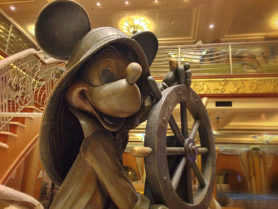 Helmsman Mickey Aboard the Disney Magic