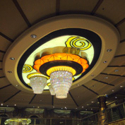 Atrium Chandeliers on the Re-Imagined Disney Magic