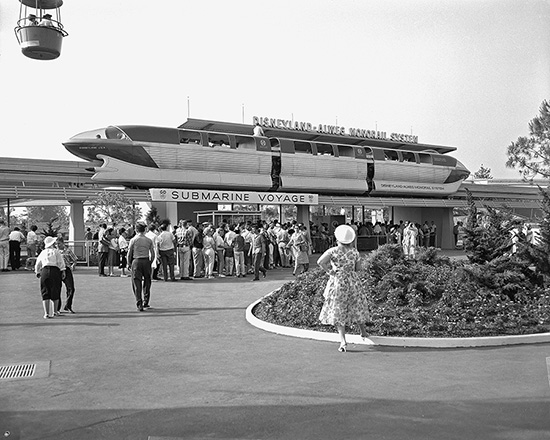 The Disneyland Alweg Monorail Station in Tomorrowland