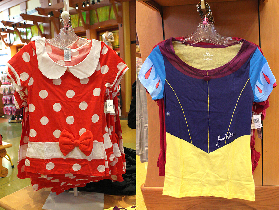 adult sized t shirts featuring minnie mouse and snow white at disney parks
