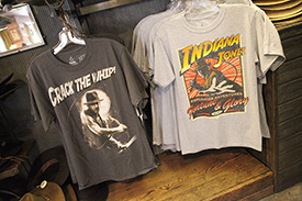 T-Shirts Available at the Indiana Jones Adventure Outpost in Adventureland at Disneyland Park