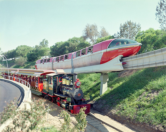 The Disneyland Alweg Mark I Monorail and the Disneyland Railroad