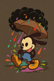 Oswald the Lucky Rabbit Art by Dave Quiggle