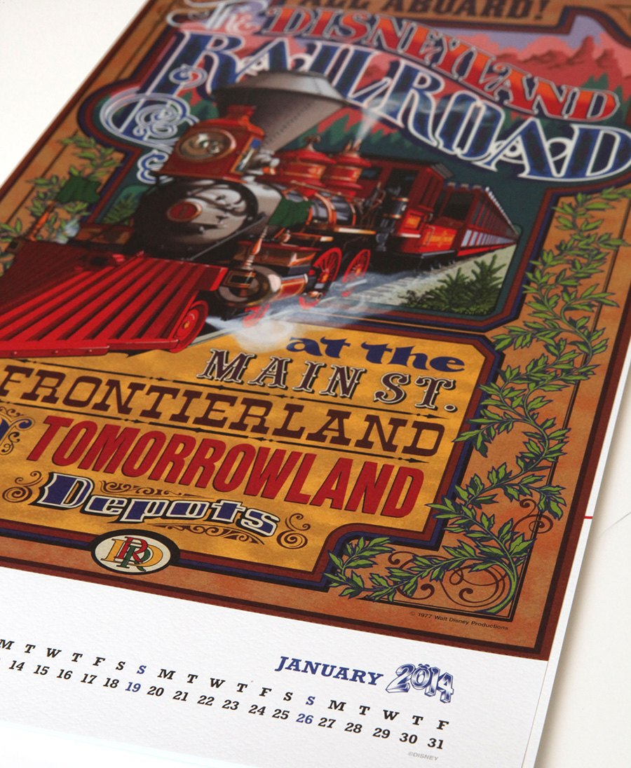 2014 Calendar Featuring Attraction Posters from Disney Parks