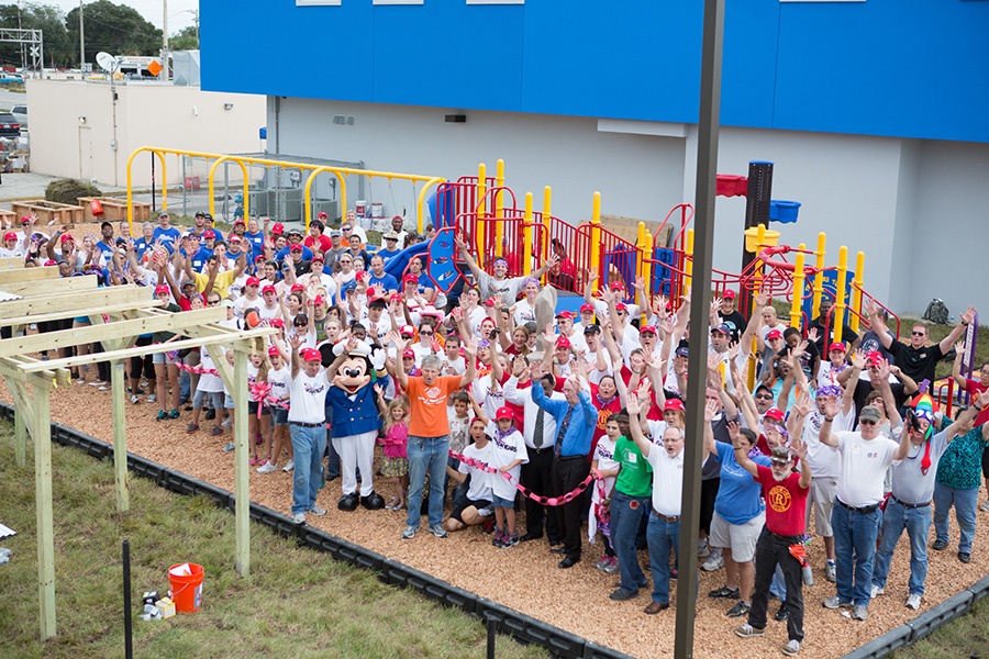 Disney Cruise Line VoluntEARS Build Playground in Central Florida