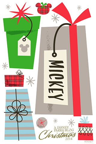 Unwrap A Disney Parks Holiday Wallpaper By Artist Jeff
