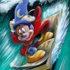 'Mickey on a Wave' by Brian Blackmore