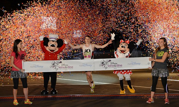 Disney Wine & Dine Half Marathon Men's Overall Winner Justin Scheid