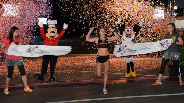 Disney Wine & Dine Half Marathon Women's Winner Kristin Teneglia