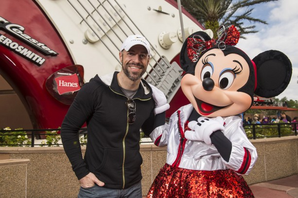 Singer Chris Daughtry Visits Minnie Mouse at Disney's Hollywood Studios
