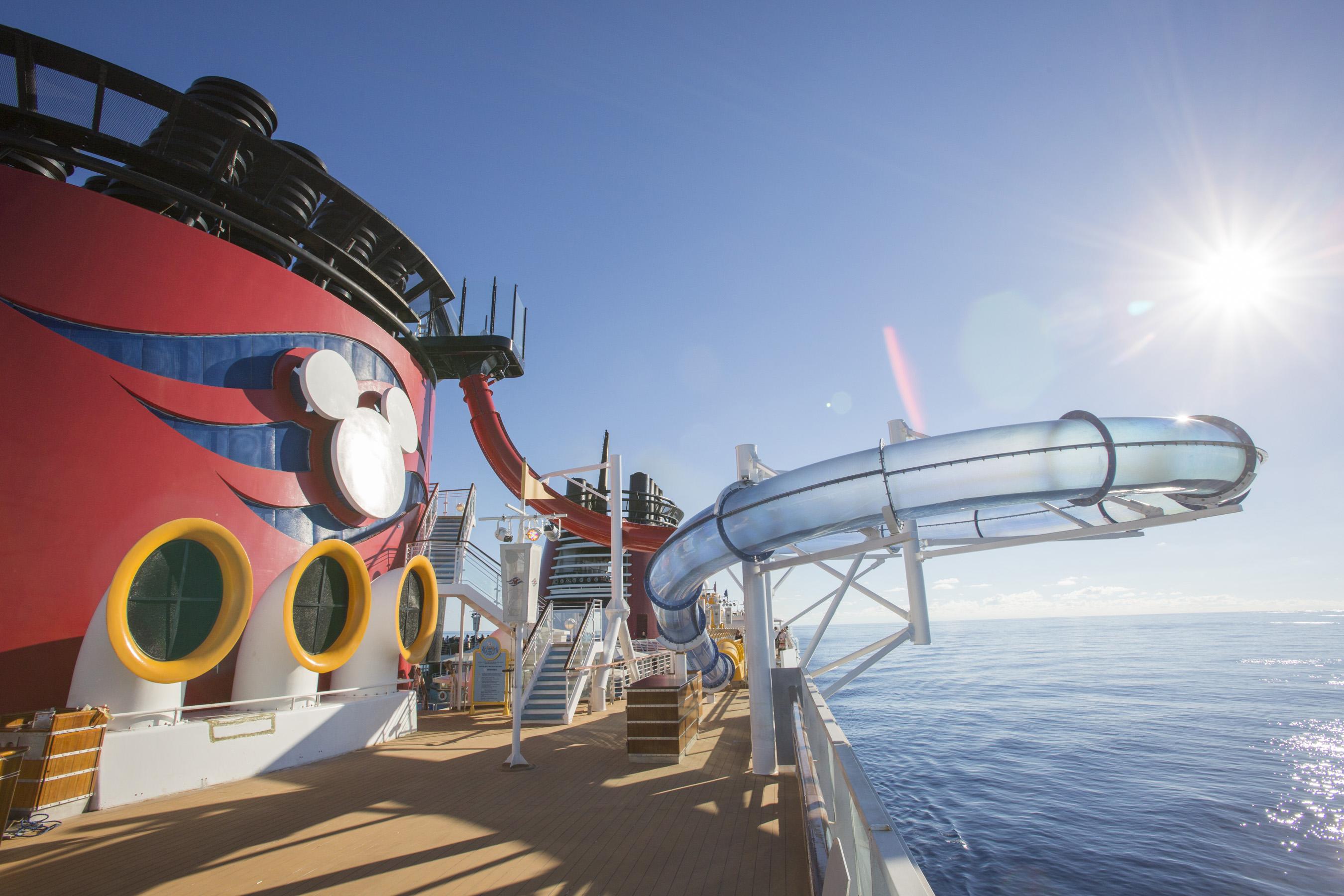 AquaDunk Water Slide on the Re-Imagined Disney Magic