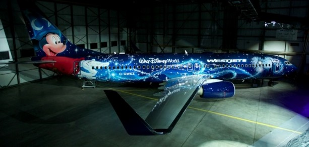 New WestJet 'Magic Plane' Features Disney's Sorcerer Mickey