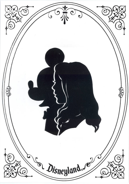 Valentine's Art from Silhouette Studio on Main Street, U.S.A., at Disneyland Park